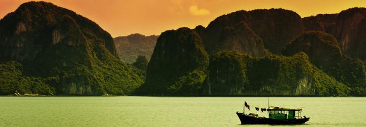 Bâteau à voile au Vietnam