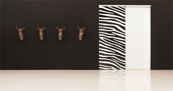 Porte coulissante zebre